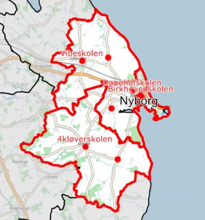 Nyborg Kommunes Skoledistrikter 4kloverskolen